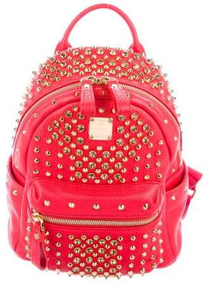 MCM Embellished Mini Leather Backpack