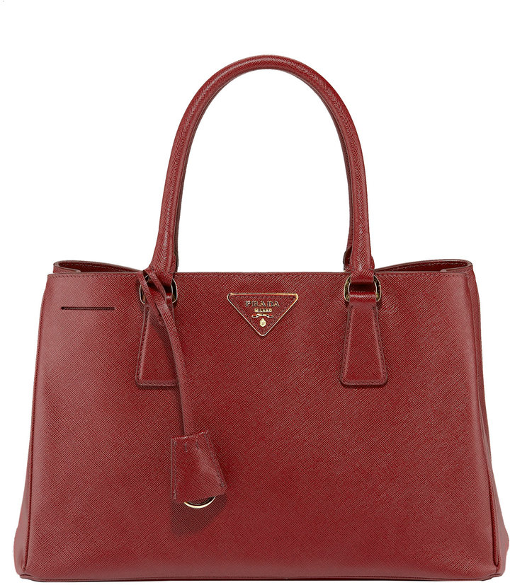 Prada Medium Saffiano Lux Open Tote