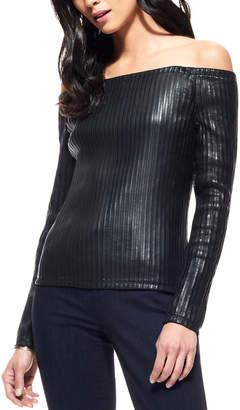 Ecru Leather Top