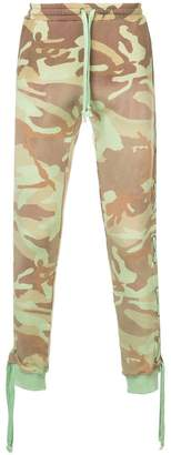 Faith Connexion camouflage print track pants