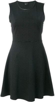 Armani Exchange patterned sleeveless flared dress