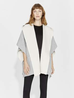Halston DOUBLE FACED PONCHO