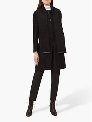 Romany Boucle Coat, Black