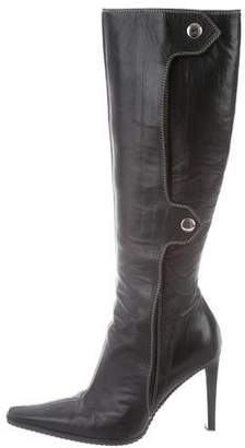 Giuseppe Zanotti Leather Snap Knee-High Boots