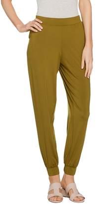 Halston H By H by Petite Jet Set Jersey Knit Jogger Pants