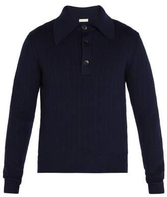 Etro Wool Knit Sweater - Mens - Blue
