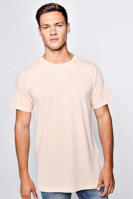 boohoo Longline T-Shirt With Step Hem