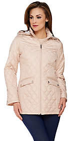 Liz Claiborne New York Packable Quilted Jacketwith Hood