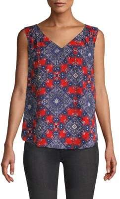 Daniel Rainn Printed Sleeveless Top