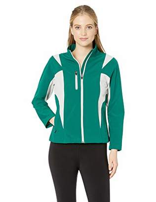 TM365 Women's TM36-TT82W-Icon Colorblock Soft Shell Jacket, Forest Pink/Silver