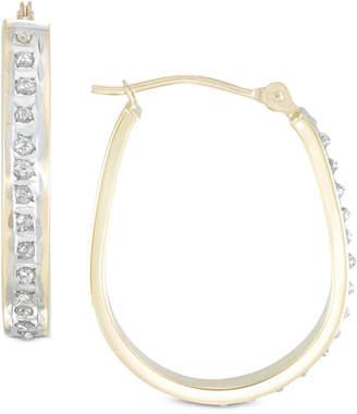 Diamond Fascination Diamond Accent Pear-Shape Hoop Earrings