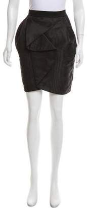 Robert Rodriguez Pleat-Accented Mini Skirt
