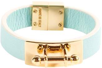 Vionnet Blue Leather Bracelets