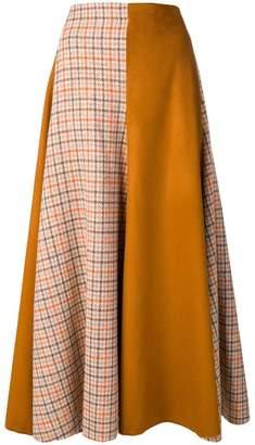 Golden Goose check panel maxi skirt