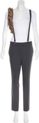 Brunello Cucinelli Wool Mid-Rise Pants