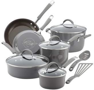Rachael Ray Meyer, Cucina 12 Piece Set Hard Enamel Cookware, 1 set
