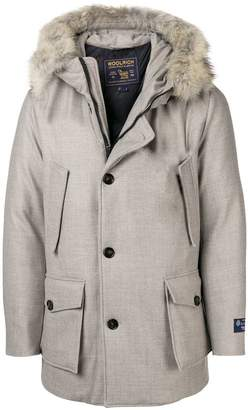 Woolrich fur hooded coat