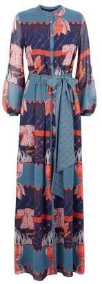 Temperley London Aerial Printed Long Dress