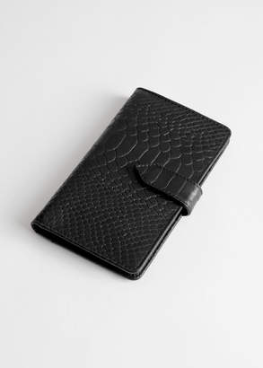 And other stories Snake Print Leather Wallet