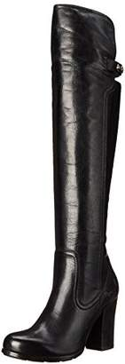 Frye Women's Parker Over The KneeAPU Engineer Boot, Black
