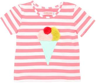 Ice Cream Patch Striped Jersey T-Shirt