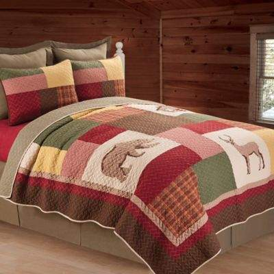 C&F Enterprises, Inc Luke Reversible Twin Quilt in Brown