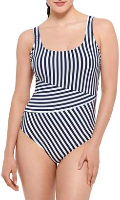Couture Beach 4T50 Striped One-Piece Swimsuit