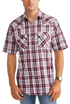 Plains Men's Short Sleeve Plaid Western Shirt