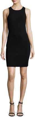 Elizabeth and James Ritter Sleeveless Body-Con Mini Dress, Black