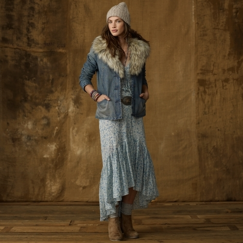 Denim & Supply Ralph Lauren Denim Faux-Fur-Trim Jacket
