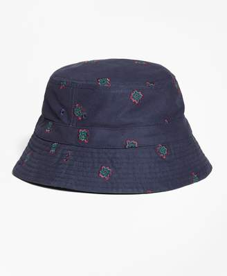 01b336a24ef Brooks Brothers Medallion-Embroidered Bucket Hat