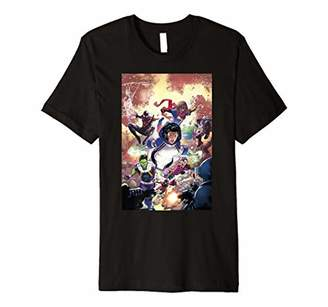Marvel Champions Answer A Call Comic Cover Premium T-Shirt