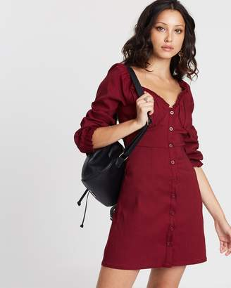 Missguided Button Down Milkmaid Dress
