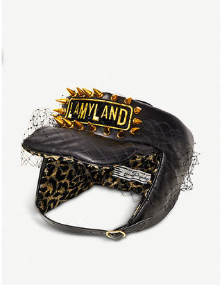 Stephen Jones Lamyland padded leather headband