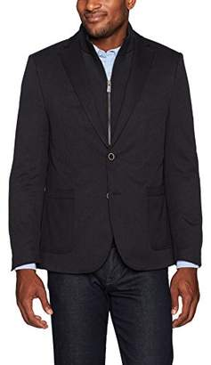 Hart Schaffner Marx Men's Broderick Technical Jacket with Detachable Knit Bib