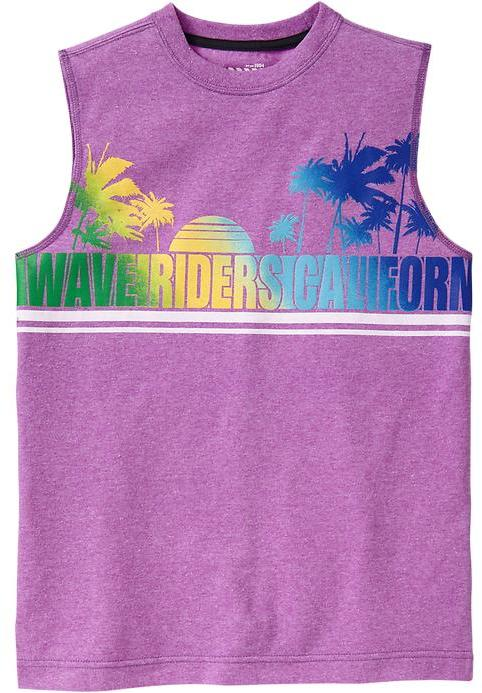 Old Navy Boys Surf Graphic Muscle Tees