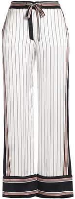 Kate Moss Equipment Striped Silk-Satin Wide-Leg Pants