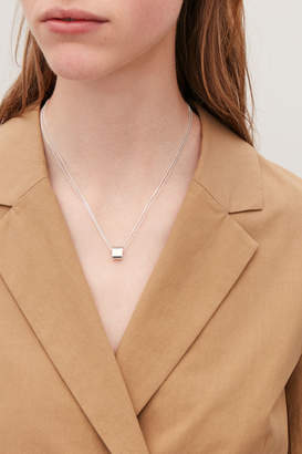 Cos STERLING SILVER DOUBLE-CHAIN NECKLACE