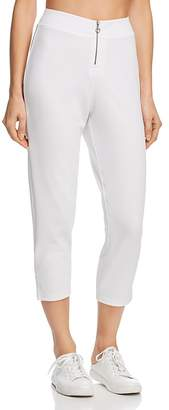 Hue Zip High-Waist Capri Leggings