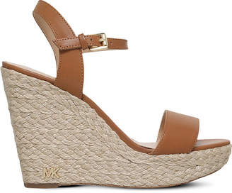 Michael Kors Michael Jill leather platform wedge sandals