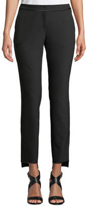 Lafayette 148 New York Manhattan Slim-Leg Stretch Pants w/ Step Hem