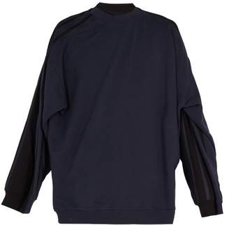 Y/Project Cotton Jersey Double Sweatshirt - Mens - Black