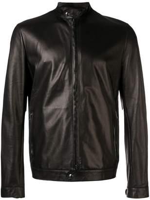 Salvatore Santoro zipped up leather jacket