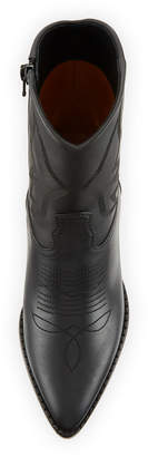Valentino Smooth Leather Western Booties