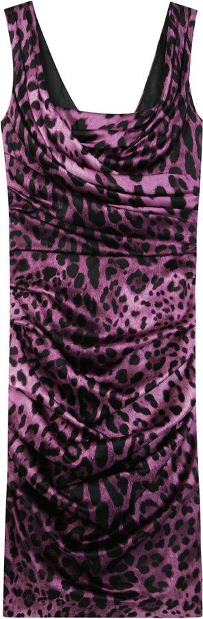 Dolce & Gabbana Leopard Print Dress
