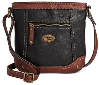 Bolo Women's Faux Leather Crossbody Handbag with Power Bank and Front/Back/Interiors Compartments - Black/Walnut $24.99 thestylecure.com