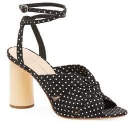 Loeffler Randall Women's Tatiana Ankle-Strap Cinched Sandals - Black - Size 5