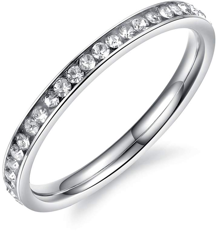 SG Stainless Steel Ring With Micro-inserts Zircon For Girls Size4