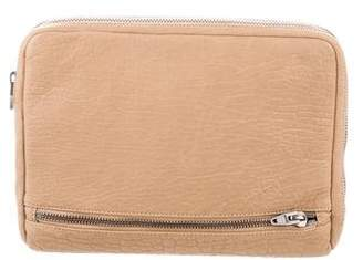 Alexander Wang Leather Zip-Around Pouch