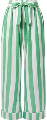Mara Hoffman Sasha Striped Organic Cotton Pants - Green